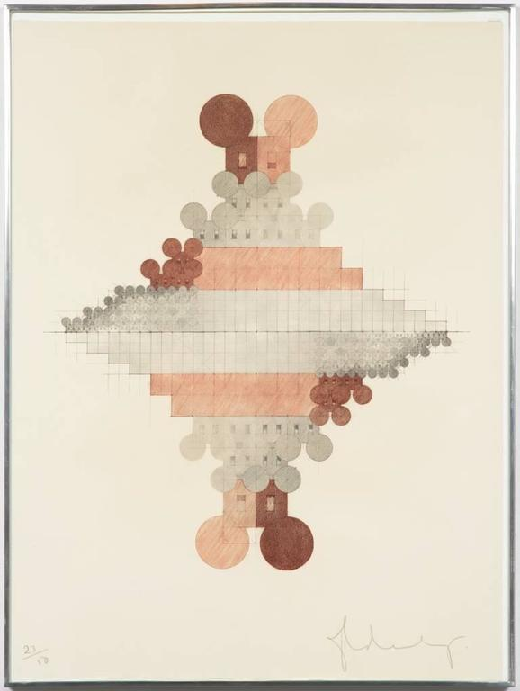 Geometric Mouse Pyramid, lithograph