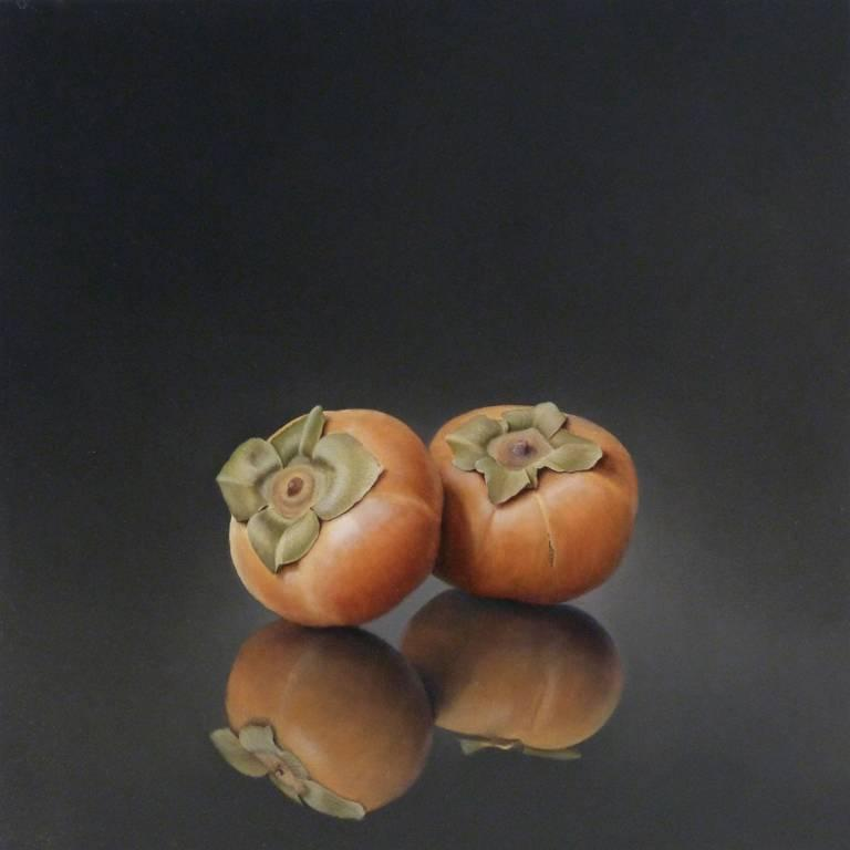 Two Persimmons, still-life painting