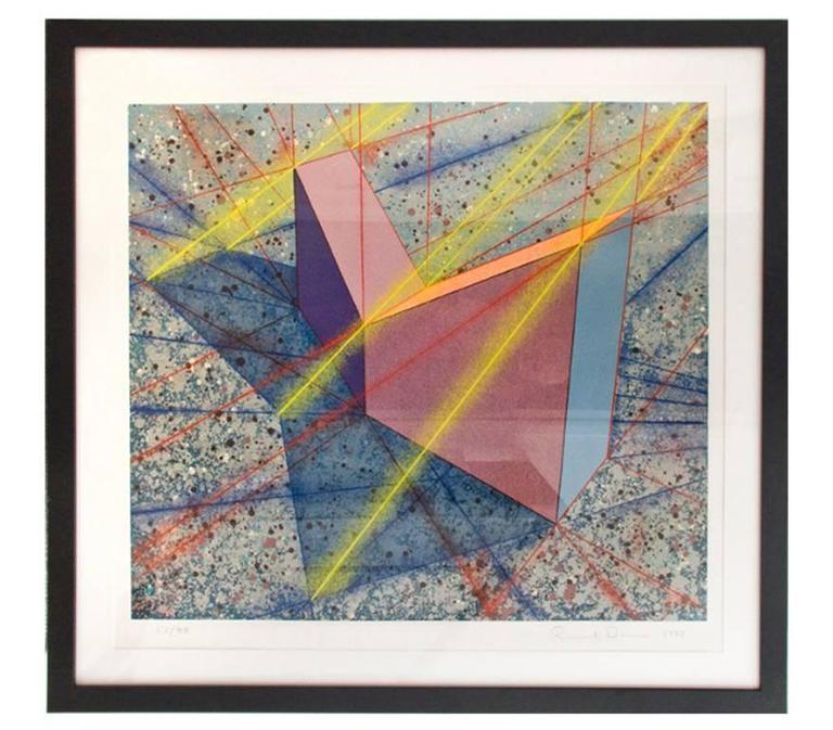 Up Right Vee Angle Slabs, silkscreen print