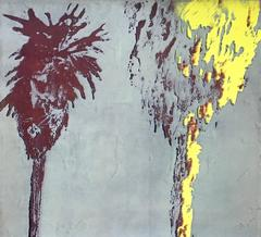 Palm Tree Monoprint 4
