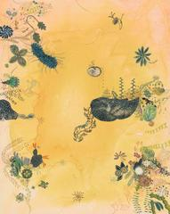 Strange Symmetries in the Golden Undertow, gouache painting