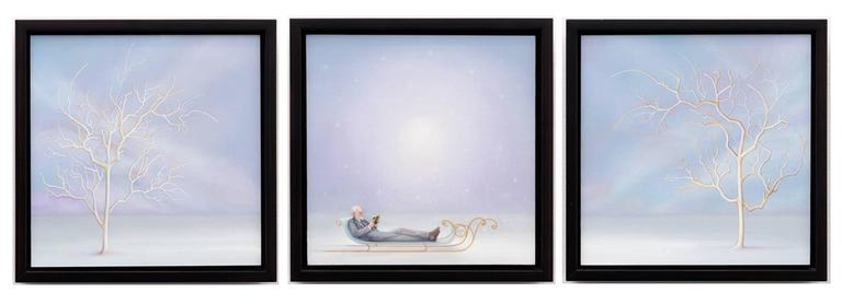 The Snowfall is so Silent, oil painting (triptych)