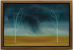 The Storm Between Two Trees, oil painting