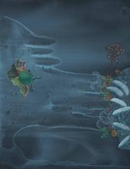 Elegy: Blue Milk and Honeythorn, gouache painting