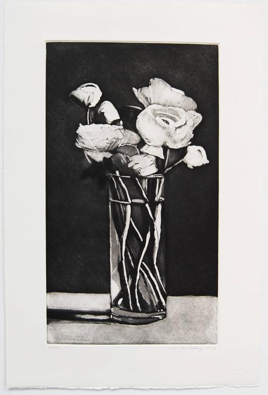 Ranunculus, limited edition etching