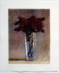Lilacs, limited edition three color etching