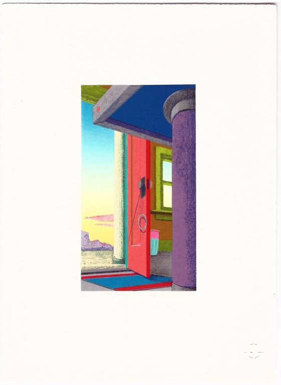 Nicholas Sistler Interior Print - View Through The Red Door
