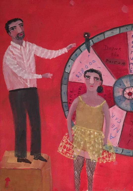 Ann Chamberlin Figurative Painting - Wheel of Fortune