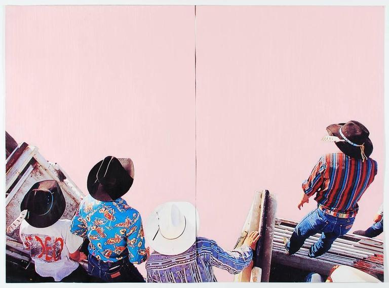 Pink Showdown, Mixed Media Art Work