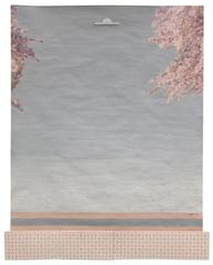 Framing Foliage: Blush, mixed media on paper