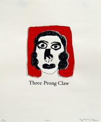 Three Prong Claw, screenprint