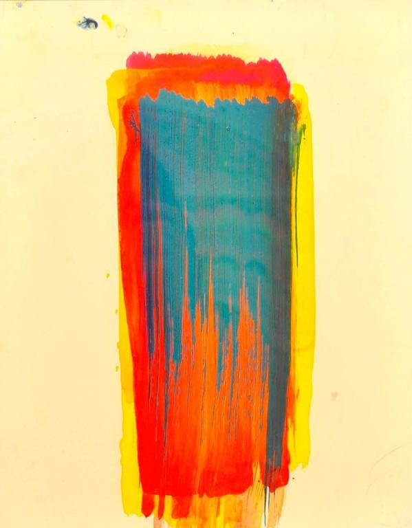 Untitled (brushstrokes) gouache on yupo