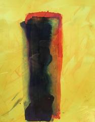 Untitled (brushstroke) gouache on yupo