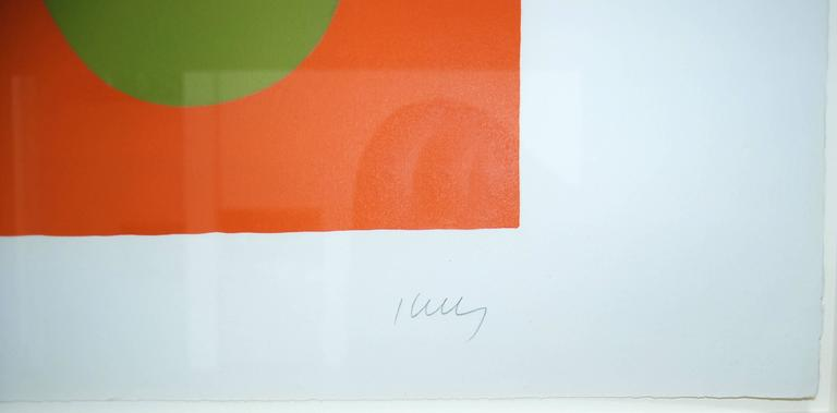 Blue and Green over Orange, Bleu et vert sur orange, from Suite of 27 lithos - Modern Print by Ellsworth Kelly