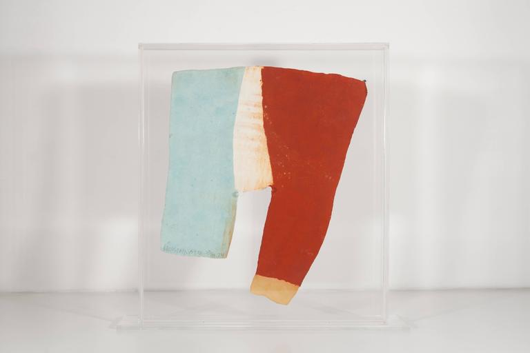 Pages and Fuses Link, 1974, pressed paper pulp sculptural print  - Print by Robert Rauschenberg