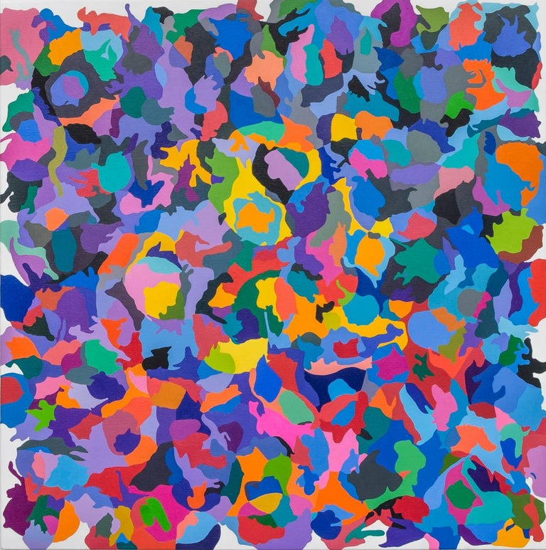 Tom Krumpak Abstract Painting - Leading to a Tumbling Garden