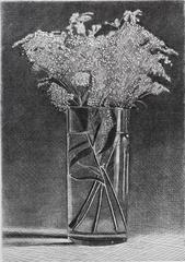 Untitled, floral etching