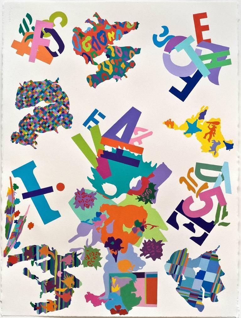 Tom krumpak stay acrylic painting on paper at 1stdibs for Acrylic painting on paper tips