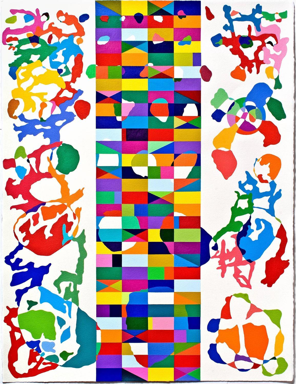 Tom krumpak shoji acrylic painting on paper at 1stdibs for Acrylic painting on paper tips