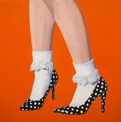 Polka Dot Shoe Painting