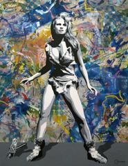 """""""One Million Years BG""""  oil and acrylic on canvas,  62x48"""""""