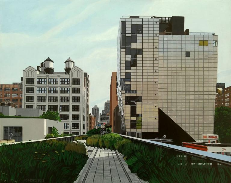 """Charles Ford - """"The Highline 245 10th Ave"""" Acrylic on Masonite 1"""