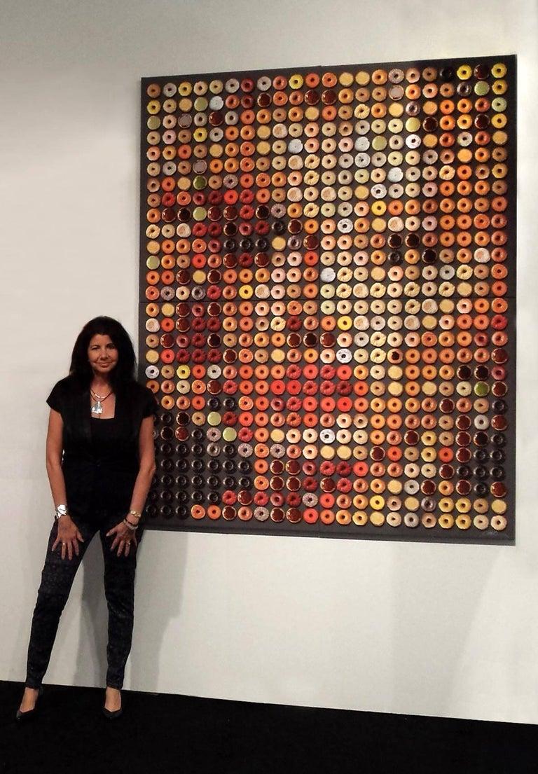 """Candice CMC Color Photograph - """"Big Marilyn Donuts"""" 76x60, Unique Photographic Arrangement"""