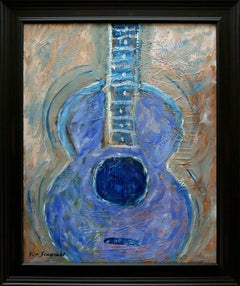 """Heavenly Guitar"",  35x29"",  Acrylic on canvas"