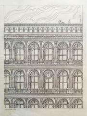 Haughwout building at Broadway and Broome, pencil on vellum