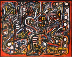 """""""Museum Abstract"""" ,  50x70""""  acrylic on canvas"""