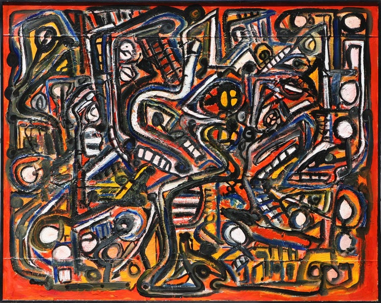 """""""Museum Abstract"""" ,  50x70""""  acrylic on canvas 1"""