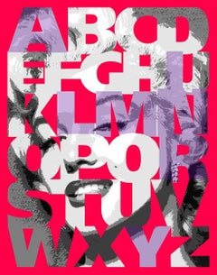 """Alphabet Marilyn""  Violet/Shocking Pink, 38x31"","