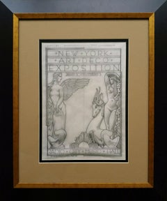Radio City 1973 Art Deco Exposition, original Pencil drawing on Vellum