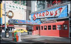 Ellen's Stardust New York City, acrylic on Masonite
