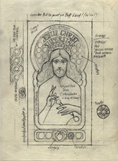 """Jesus Christ Superstar""  Original 1971 drawing"