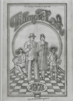 """The Original Fillmore East pencil drawing for the 1971 Program """