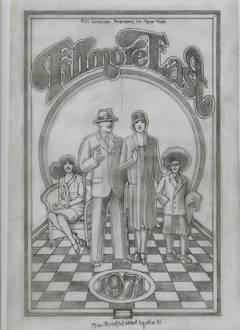 """The Fillmore East 1971 Program"" original pencil drawing"
