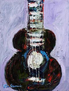 """Blues in B""  acrylic on canvas"