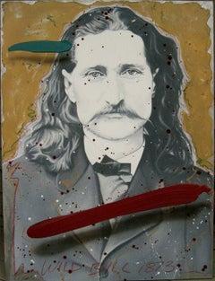 "Wild Bill 1873, 53x 40"", oil on canvas"