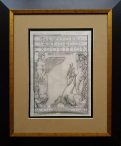 """Radio City 1973 Art Deco Exposition"", original Pencil drawing on Vellum"