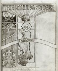 Rolling Stones 1969 World Tour,  original drawing