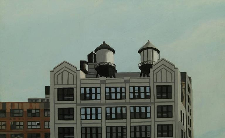 """The Highline 245 10th Ave"" Acrylic on Masonite 3"