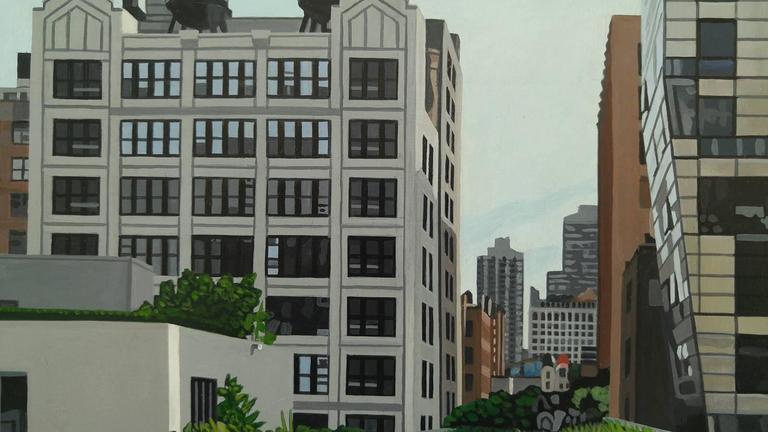"""The Highline 245 10th Ave"" Acrylic on Masonite 4"