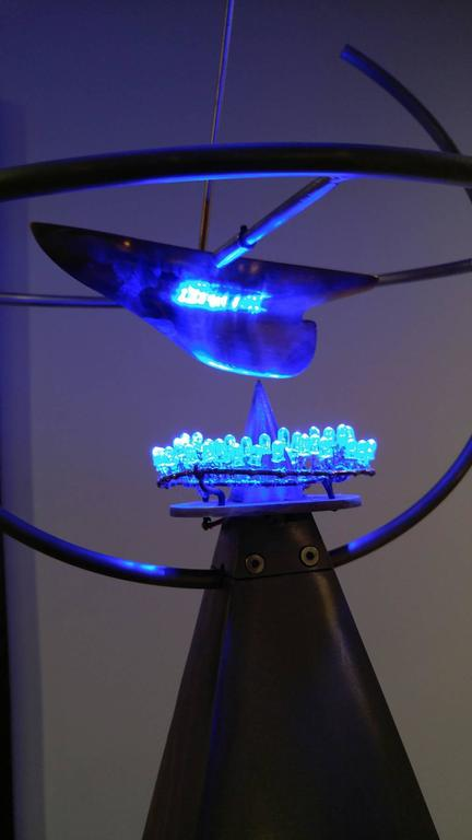 Symmetrical Joy 77x17x17, Stainless Steel and polished bronze with LED lighting, For Sale 1