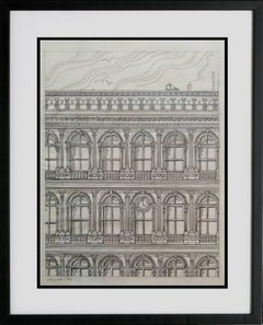 Haughwout building at Broadway and Broome, original pencil on vellum