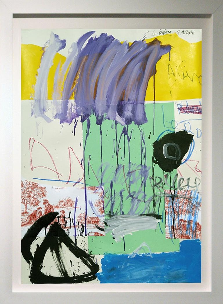 """""""Composition with Violet over Yellow"""",  54x38"""""""