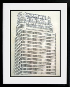 McGraw-Hill Building West 42 Street, Pencil on Vellum,