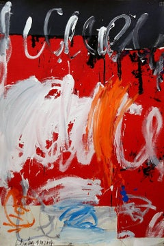 Abstract composition with Red and White