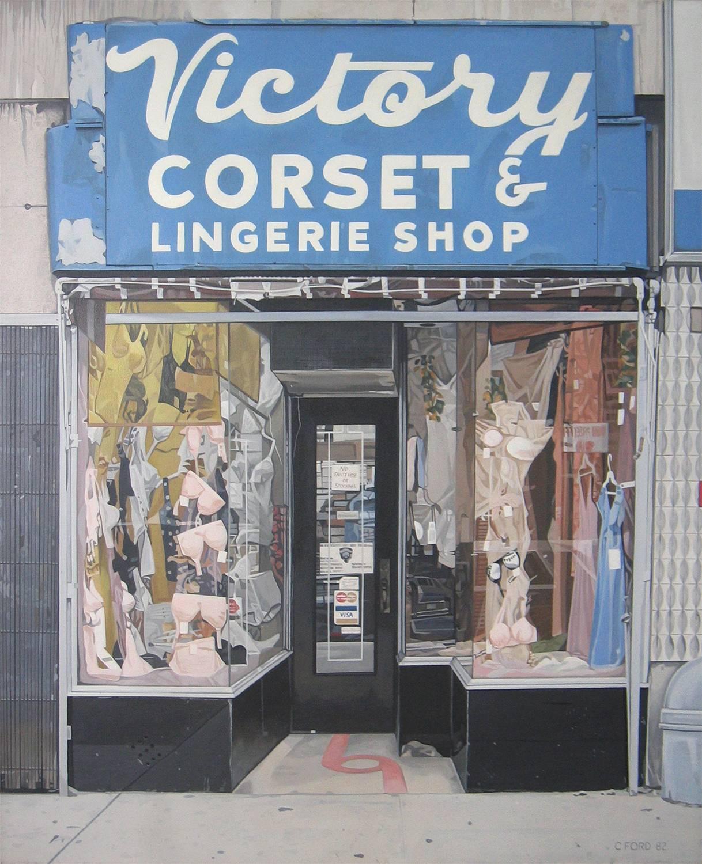 Victory Corset, acrylic on canvas,