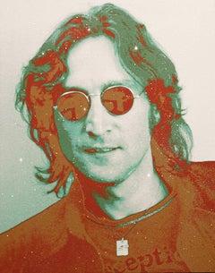 """John Lennon Diamond Dust 1, 38x30"""" Diamond Dust on canvas"""